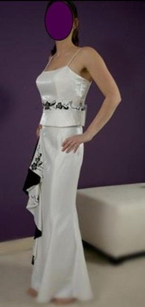 Robe de soirée NEUVE blanche/noir de Zeila pas cher d'occasion 2012 - Lorraine - Moselle - Occasion du Mariage