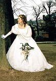 Robe de mariée T36/38 avec voile et gants en satin et organza