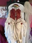 Robe de mariée bordeaux / ivoire - 38/40 - Occasion du Mariage