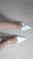 Chaussure en satin blanc - Occasion du Mariage