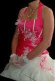 Robe de mariée fuchsia - Occasion du Mariage