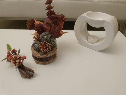 Décorations de table nature - automne pour mariage