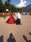 Robe de mariée rouge bordeau sublime - Occasion du Mariage