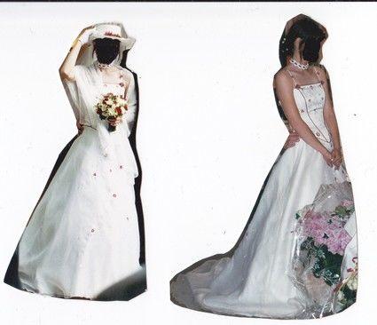 Robe de mariée d'occasion Point Mariage T36 avec accessoires