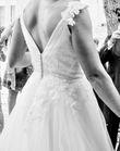 Robe de mariée Pronuptia dos échancré et bretelles - Hauts de Seine