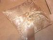 Coussin pour Alliance beige satiné - Occasion du Mariage