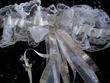 Lingerie pas cher, jarretière de mariée blanche et argentée - Occasion du mariage