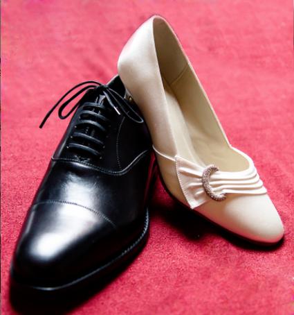 Chaussures de mariée crème avec boucle pas cher - Occasion du Mariage
