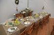 Tête à Tête en dentelle en décoration de table de mariage d'occasion