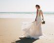 Magnifique robe de mariée, couture, robe sirène rose poudrée - Occasion du Mariage