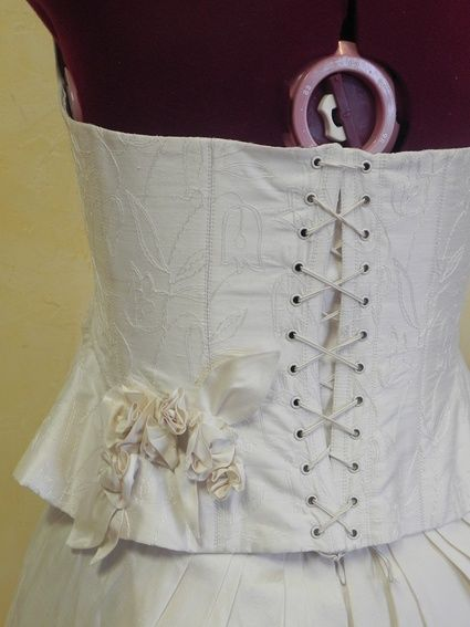 Robe de mariée en soie sauvage 38/40 d'occasion