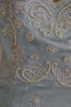 Robe de cocktail de mariage pas cher bleue ciel 2012 en Alsace - Occasion du mariage