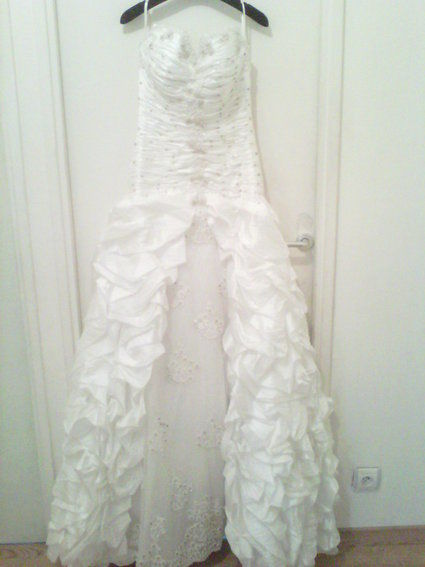 Robe de mariée originale de princesse taille 36 en organza pas cher