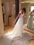 robe neuve - coupe droite - tulle plissé - T38 - Occasion du Mariage