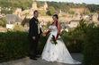 Robe de mariée ivoire et bordeau - Occasion du Mariage