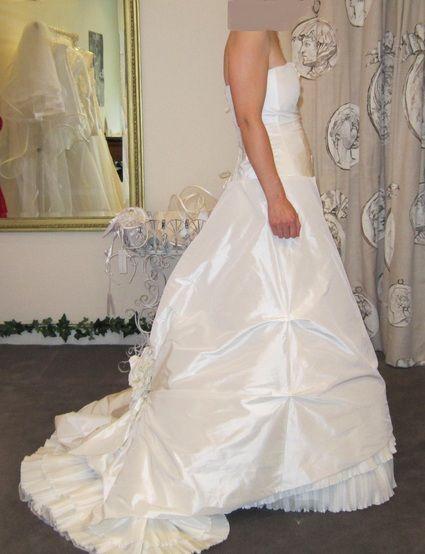Robe mariée Cybella de Cymbeline d'occasion, taille 42 avec jupon et surjupes