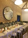 Bougeoirs gris décoration de table mariage - Occasion du Mariage