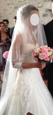 Voile long broderies perlées pronovias - Occasion du Mariage