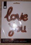 Ballon cuivré love you  - Occasion du Mariage