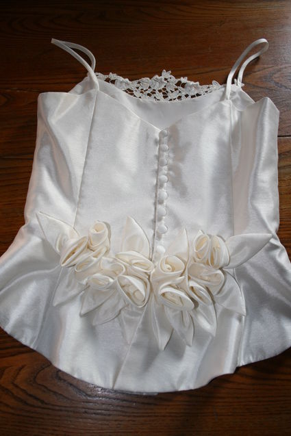 Robe de mariée Bustier Pronuptia T38 en occasion avec jupon, jupon et voile