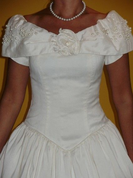 Robe de mariée pas cher en soie sauvage - Occasion du mariage
