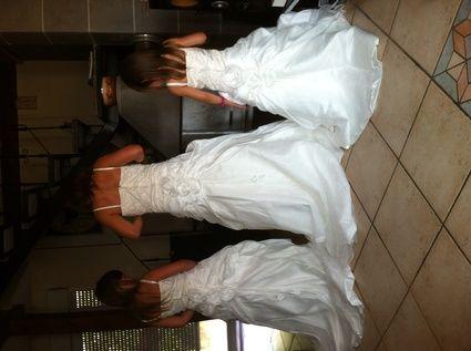 3 magnifiques robes cortèges ivoire