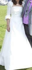 Robe de mariée d'occasion marque Cymbeline avec boléro assorti