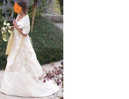 Robe mariée Flor'inne d'occasion, bustier et jupe couleur vanille
