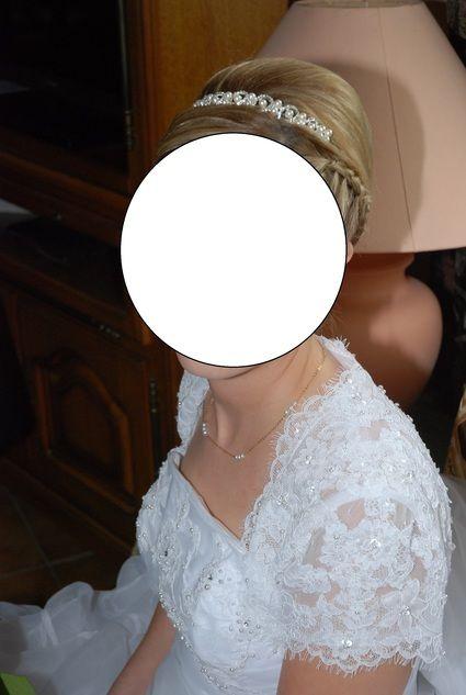 Très belle robe de mariée blanche d'occasion T 36/38 + boléro