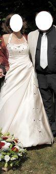 Robe de mariée champagne et bordeaux d'occasion - Finistère