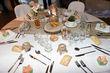 Déco table - toile de jute - rondins de bois - Occasion du Mariage
