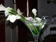 Location coupes cocktail/vases martini et chandeliers pour mariage pas cher