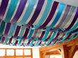 Tenture/Ciel de tissus bleu et violet pour plafond - Occasion du Mariage