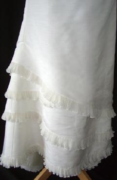 Robe de mariée pas cher en doupion Lambert créations - Occasion du Mariage