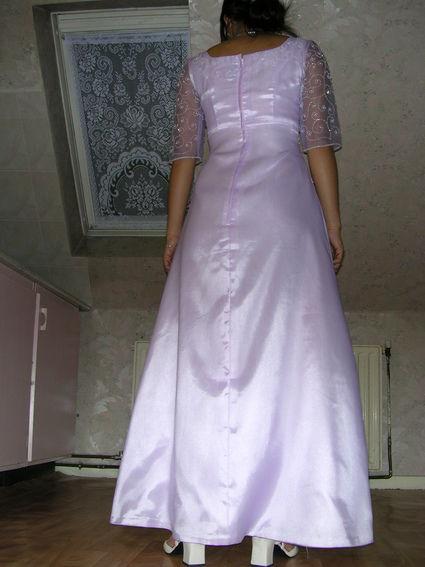 Superbe robe de soirée/mariée mauve pastel d'occasion en 2013