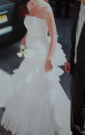 Robe de mariée Cymbeline modèle Chérie en taffetas ivoire d'occasion