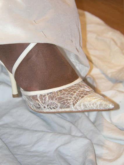 Robe de mariée d'occasion Rosi Strella avec chaussures