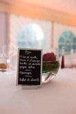 14 Ardoises menu argent - Occasion du Mariage