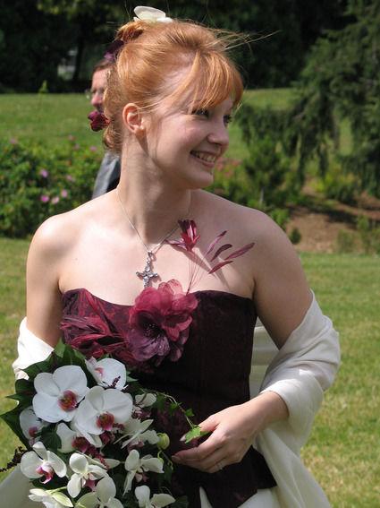 Robe de mariée pas cher (corset + jupe) couleur prune en 2013 - Occasion du Mariage
