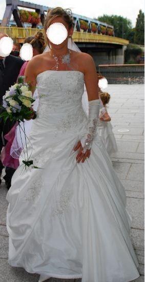 Robe de mariée d'occasion en soie sauvage, créateur espagnol