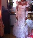 Robe de mariée réalisée à la main + traine pas cher - Occasion du Mariage