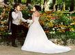 Robe de mariéecosmobella taille 38 avec voile et jupon - Occasion du Mariage