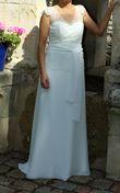 Robe de mariée bohème fluide - Calvados