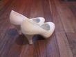 Chaussures escarpins blanches pailletées - Occasion du Mariage