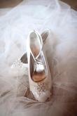 CHAUSSURES dentelle et perle 40 talon 6cm - Occasion du Mariage