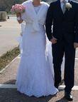 cape blanche en faussure  - Occasion du Mariage