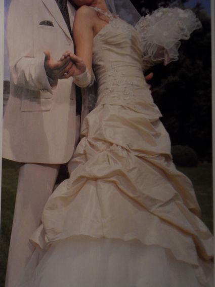Robe de mariée pas cher T40 avec Jarretière assortie  - Occasion du Mariage