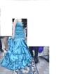 Robe de soirée sirène avec jupon couleur bleu turquoise