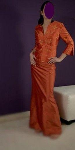 Enssemble de soirée Orange de Pepa Pajuelo pas cher d'occasion 2012 - Lorraine - Moselle - Occasion du Mariage
