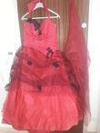 robe rouge et noire taille 46 - Occasion du Mariage